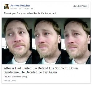 Ashton Kutcher shares Robb Scott's video